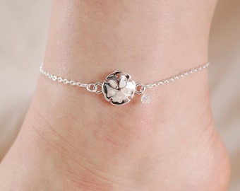 Sealife Summer Theme Bead Link Anklet Flower