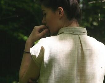 Asymmetric poncho shirt