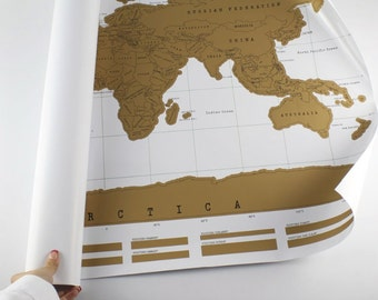 Scratch-off Large World Map Poster