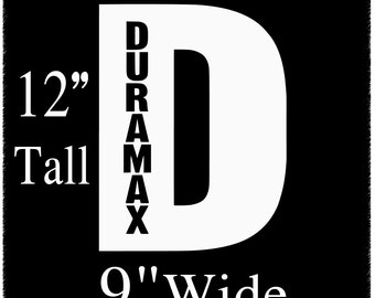 Duramax 12 inch Decal Sticker