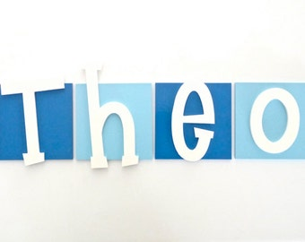 Kids wooden letters - Wooden wall letters - wooden letter tiles - Kids room decor - Wood letters - Large