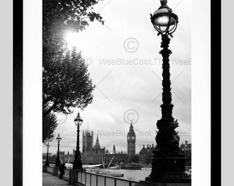 Photo Dt River Thames Big Ben Parliament Art Poster Print FEBMP11739