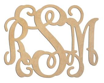 Wooden Monogram Wall Decor, Wall Decor, Custom Monogram wood Initials, Monogram Decor