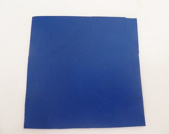hard blue leather, 6.5 cm, square end and smooth leather