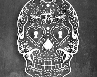 Sugar Skull - Vinyl Decal - Multiple colors 6x4