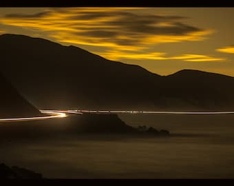 Pacific Coast Highway at Night, a moody long exposure