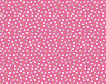 Petal Pink of Summer Song 2 by Zoe Pearn for Riley Blake Designs (Yardage, 100% Cotton Quilting Fabric)