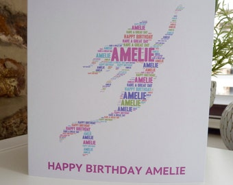 Personalised Mermaid Card, Personalised Birthday Card, Personalised  Card, Mermaid Card