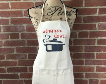 Simmer Down Canvas Apron