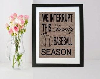 We interrupt this family for baseball season! | Baseball