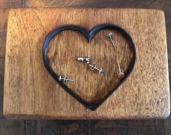 Earring holder, Heart Shaped