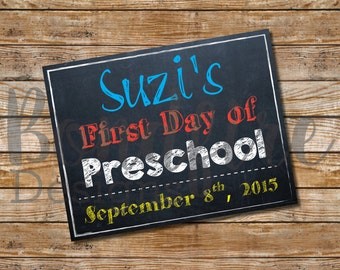 First Day of School Signs - Printables