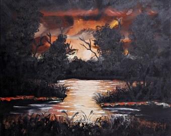 Night pond