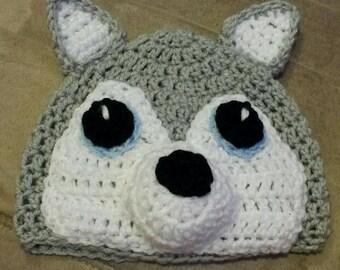 Childrens Crochet husky hat