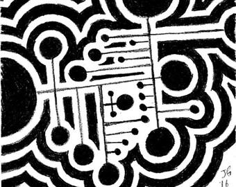 Abstract Circular Print