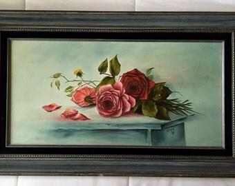 Rose Landscape Portrait Painting
