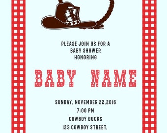 Cowboy Baby Shower Invitations -BSI_CBY_03