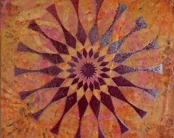 ORIGINAL Mixed-Media Mandala No. 28