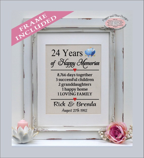 Traditional Gift For 4th Wedding Anniversary: 24th Wedding Anniversary 24 Years Married 24 Years Together