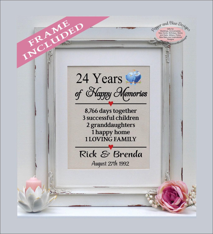24 Wedding Anniversary Gift