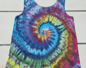 Tie Dyed/Ice dyed Rainbow  Spiral Tank top ladies plus Size 3XL  (22-24) faded glory