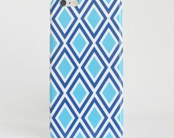 Blue Argyle iPhone 7 Case Samsung Galaxy S8 Case iPhone 6s Case Samsung Galaxy S8 Case iPhone 7Plus Case Geometric Phone Case Samsung G S7