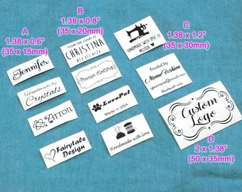 Qty 50 iron on tag sew on garment tag Custom Clothing Labels Personalized thermal printed textile washable fabric back to school name tag