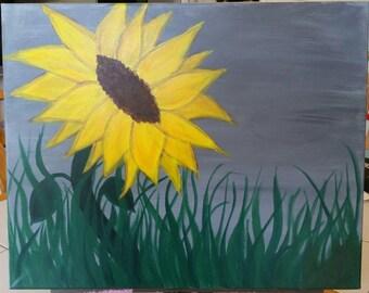 Gray Skies Sunflower