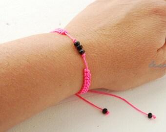 Pick your colour Black Metallic Beads Bracelet Macrame Knotted Bracelet Nautical Cord Bracelet Womens Accessories Jewelry Wrap Bracelet