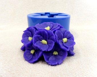 Violets - silicone mold for soap and candles making mould molds soap mold flower