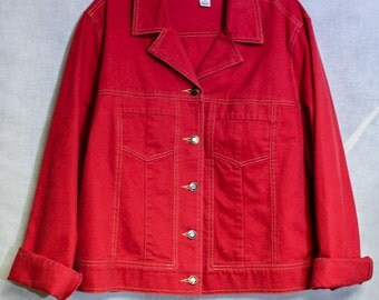 Talbots Red Denim Jacket