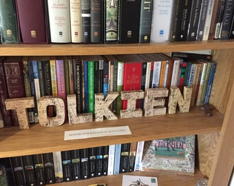 Covered Letters (Tolkien) Middle-Earth Map Bookshelf Decorations