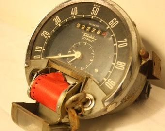 Vintage Diehl co-pilot BF 301 aircraft clock 1964