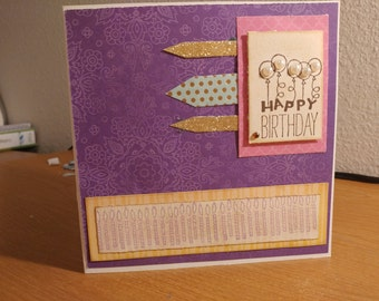 Birthday Card with envelope