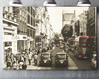 Oxford Street - Draw on canvas varnish Premium canvas - Photo and creating Global Graphic Arts