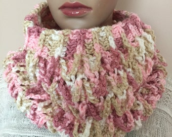 Crochet multicolor cowl, soft cowl, crochet neckwarmer