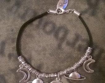 Planetary charm bracelet