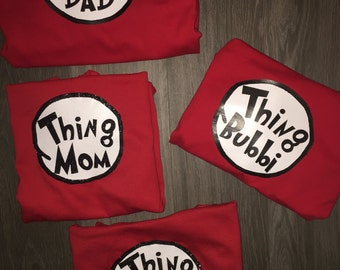 Thing Mom Thing Dad Thing BDAY Girl personalized thing family shirts