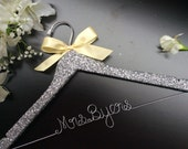 Glitter Custom Wedding Hanger, Bridal...