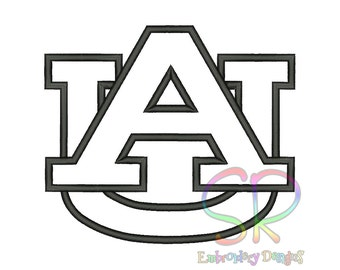 5 Size Auburn Tigers Appliqué Embroidery Designs College Football Logo Embroidery Design Machine Embroidery - Instant Download