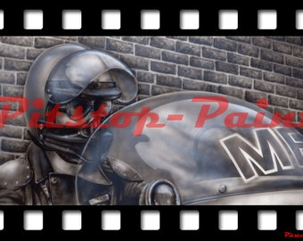 Mad Max, Goose 1 - A1 canvas print from airbrushed artwork