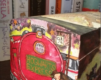 Hand painted Harry Potter box