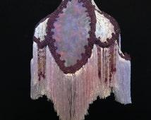 Purple Victorian Lampshade Shabby Romantic Fringe Lampshade Shabby Lampshade Cottage lighting