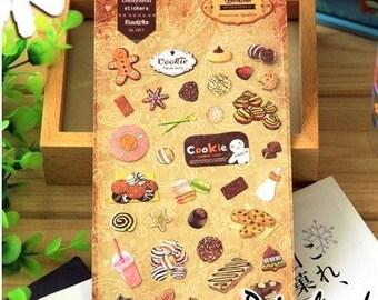 Cookies Stickers Set / Yummy Kawaii Stickers
