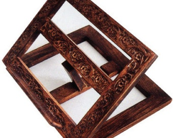 mds -FBS. Hand carved Flat Folding Bible Stand.