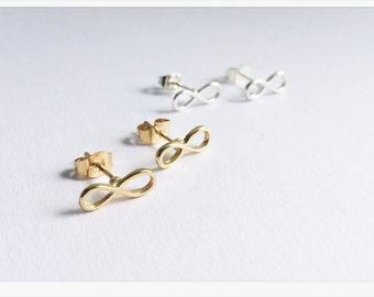 Infinity Earrings GOLD, Infinity Love, Infinity earrings gold, bridesmaids gift