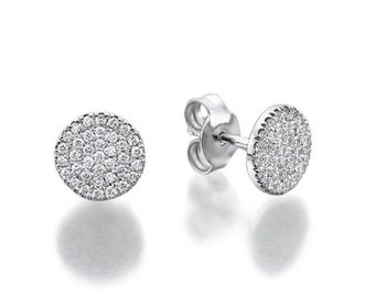 Earrings 14 k gold 1.03 diamonds total CT