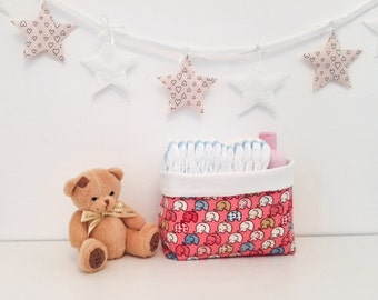 Fabric Basket | Diaper Organizer | Storage Bin | Diaper Caddy | Diaper Storage | Storage Basket| Fabric Organizer