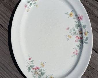 Discounted ~ Hall Springtime Platter ~ Oval Ceramic Serving Platter ~ Superior Hall Quality Dinnerware Spring Time Pattern