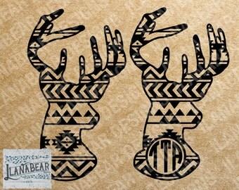 Aztec Deer Monogram